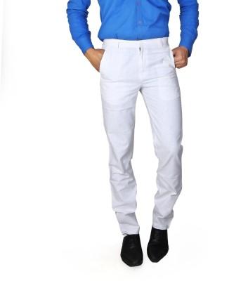Boy Adam Slim Fit Men's White Trousers
