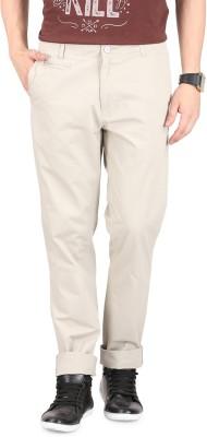 FR Slim Fit Men's Beige Trousers