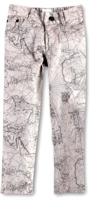 Cherry Crumble California Slim Fit Boy's Grey Trousers