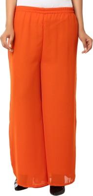 Haniya Regular Fit Women's Orange Trousers