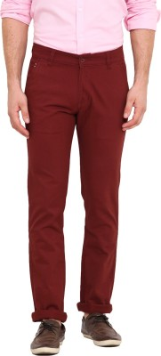 Dais Slim Fit Men's Red Trousers
