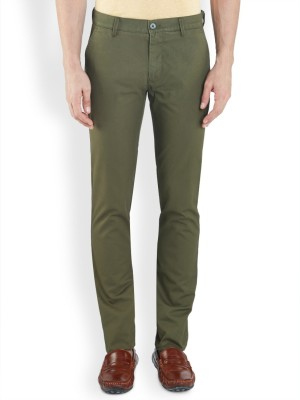 ColorPlus Regular Fit Men's Dark Green Trousers