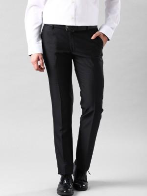 Invictus Slim Fit Men's Black Trousers