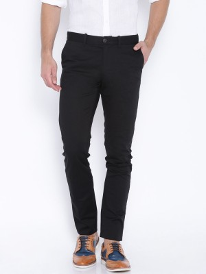 Jhon Diego Slim Fit Men's Black Trousers