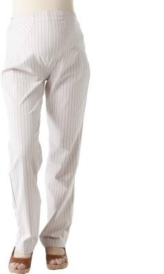 Morph Maternity Regular Fit Women's White Trousers