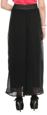 Magrace Regular Fit Women's Black Trousers