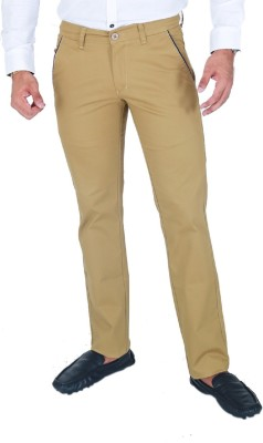 Awack Slim Fit Men's Gold Trousers