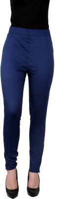 I Am For You Regular Fit Women's Blue Trousers