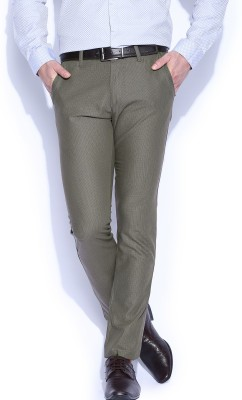 Mast & Harbour Slim Fit Men's Green Trousers