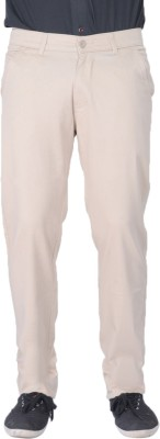 AUSSUM Regular Fit Men's White Trousers
