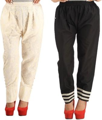Alicolours Slim Fit Women's Cream Trousers