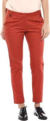 MARTINI Slim Fit Women's Orange Trousers