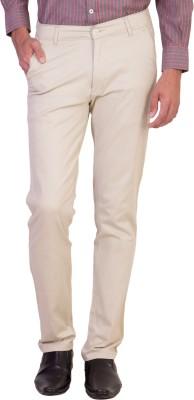 Maciej Slim Fit Men's Cream Trousers