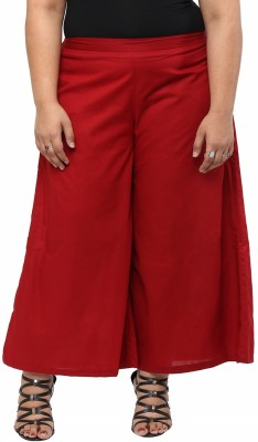 kira plus Regular Fit Women's Maroon Trousers