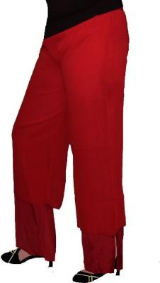 AS42 Regular Fit Women's Maroon Trousers