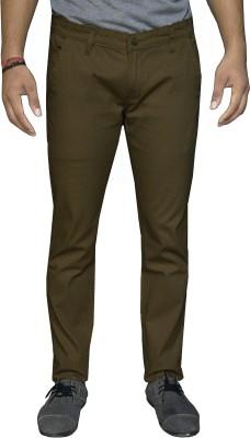 Oiin Regular Fit Men's Brown Trousers
