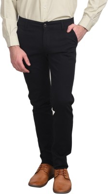 Ruace Slim Fit Men's Black Trousers