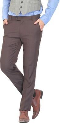 NATTG Slim Fit Men's Brown Trousers