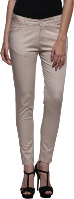 Prakum Skinny Fit Women's Grey Trousers