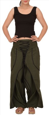 Skirts & Scarves Regular Fit Women's Green Trousers