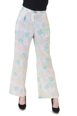 Silk Weavers Regular Fit Women's Yellow Trousers