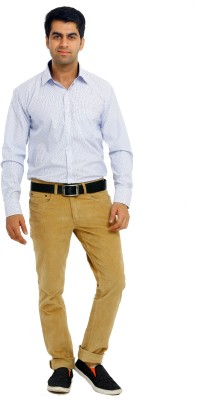 Richlook Slim Fit Men's Beige Trousers