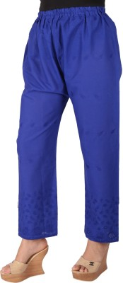 Ayesha Creations Regular Fit Women's Blue Trousers