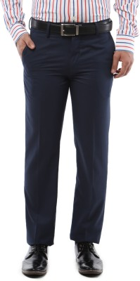 Van Heusen Slim Fit Men's Dark Blue Trousers