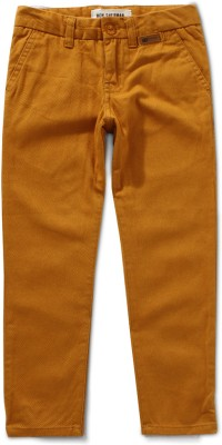 Ben Sherman Regular Fit Boy's Gold Trousers