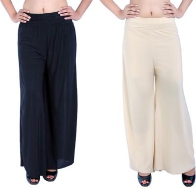 Ajaero Regular Fit Women's Black, Gold Trousers