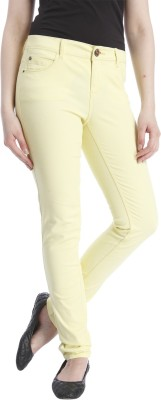 Only Regular Fit Women's Yellow Trousers