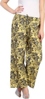 Aksara Regular Fit Women's Yellow Trousers