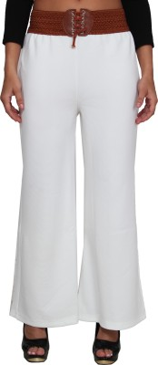 LGC Regular Fit Women's White Trousers