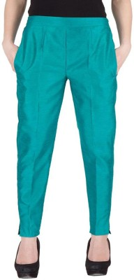 Komal Trading Co Slim Fit Women's Green Trousers