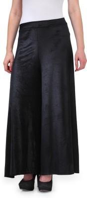 Pushpanjali Fashion Hub Regular Fit Women's Black Trousers