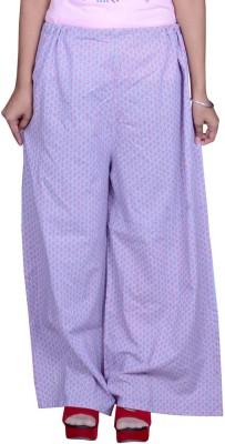 Pezzava Regular Fit Women's Blue Trousers