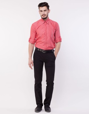 Cotton County Slim Fit Men's Black Trousers