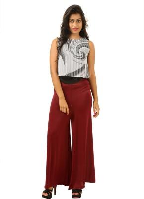 Advika Regular Fit Women,s Maroon Trousers