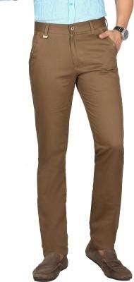 Sloper Slim Fit Men's Brown Trousers