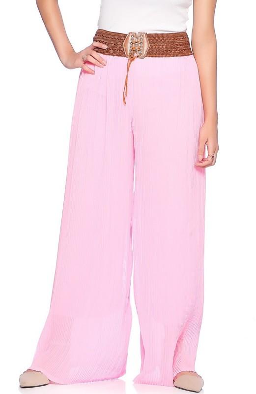Vanita Regular Fit Women's Pink Trousers