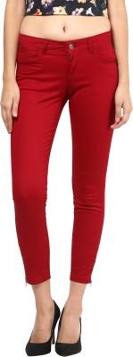 La Rochelle Slim Fit Women's Red Trousers