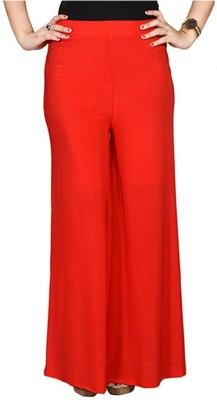 Edge Plus Regular Fit Women's Red Trousers
