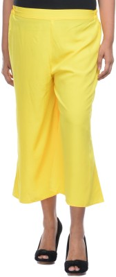 Lavennder Regular Fit Women's Yellow Trousers