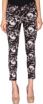 Azores Slim Fit Women's Black Trousers