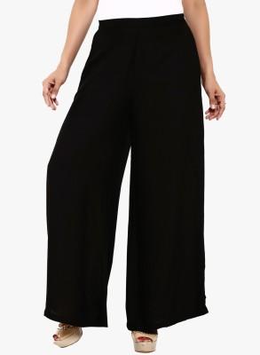Kamakshi Krafts Regular Fit Women's Black Trousers