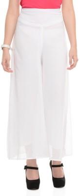 shreya Regular Fit Women's White Trousers