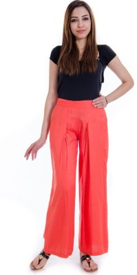 Fille Divin Regular Fit Women's Red Trousers