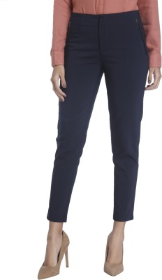 Vero Moda Slim Fit Women's Blue Trousers at flipkart