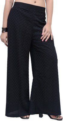Charu Boutique Regular Fit Women's Black Trousers