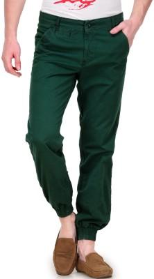 White Kalia Regular Fit Men's Dark Green Trousers